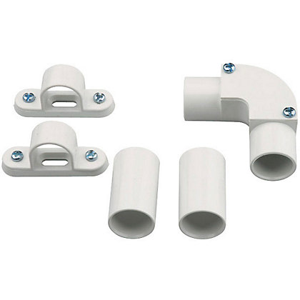 Image for GET Round Conduit Accessories Pack - White from StoreName
