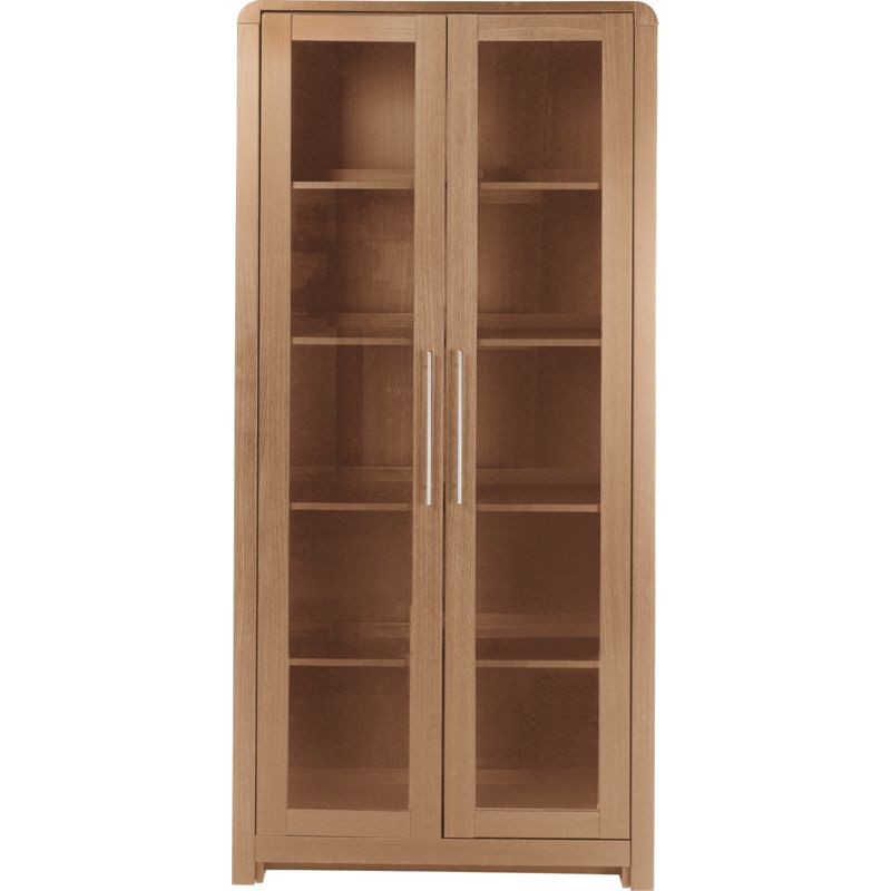 Hygena strand oak 3 door display cabinet for Homebase kitchen cabinets