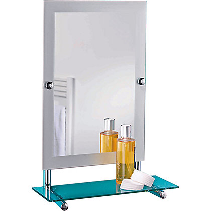 Croydex Devoke Rectangular Mirror And Shelf