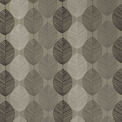 Image for Arthouse Opera Retro Leaf Wallpaper - Taupe from StoreName