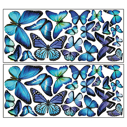 Image for Fine Decor Mariposa Butterfly Wall Art Kit from StoreName