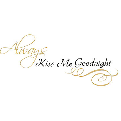 Image for Fine Decor Always Kiss Me Wall Quote from StoreName