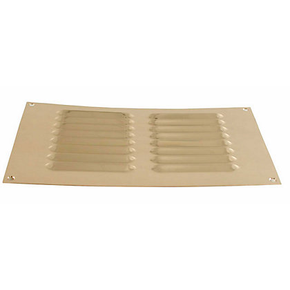 Image for Louvre Vent - 229 x 152mm - Brass from StoreName