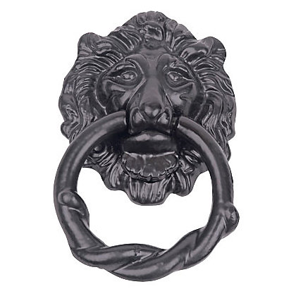 Image for Iron Lion Head Door Knocker - Black from StoreName