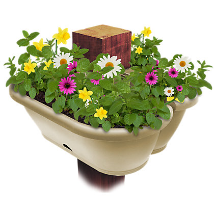 Image for Garden Up Pergola & Downpipe Garden Planter in Latte - 17cm from StoreName