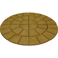 Brett Walton Paving Circle 1.85m 2.69sq m 36 Pack - Warm Silk