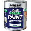 Ronseal White - One Coat Anti-Damp Paint - 750ml