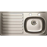 Estilo 2 Tap Hole Kitchen Sink Left Hand Bowl - 1 Bowl