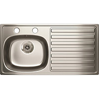 Estilo 2 Tap Hole Kitchen Sink Right Hand Bowl - 1 Bowl