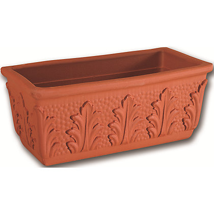 Image for Terracotta Leaf Trough - 41cm from StoreName