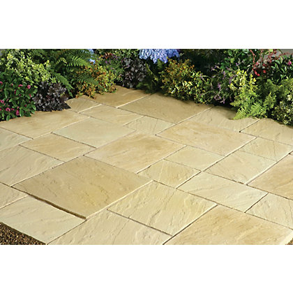 Image for Stylish Stone Chantry Paving Patio Kit 5.76sq m - York Gold from StoreName