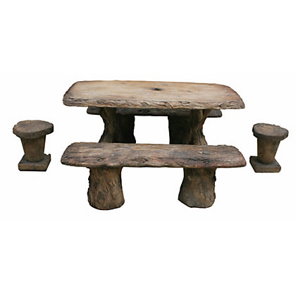 Image for Stylish Features Henri Woodlands Table Set - Relic Hi Tone from StoreName