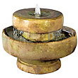 Stylish Fountains Henri Millstone Fountain including Light - Relic Sargasso