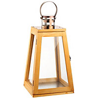 Tapered Wooden Garden Lantern