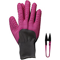 Briers All seasons Gloves in Pink & Snip Set - Medium