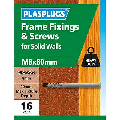 Image for Plasplugs Frame Fixings M8 x 80mm - Pack of 5 from StoreName