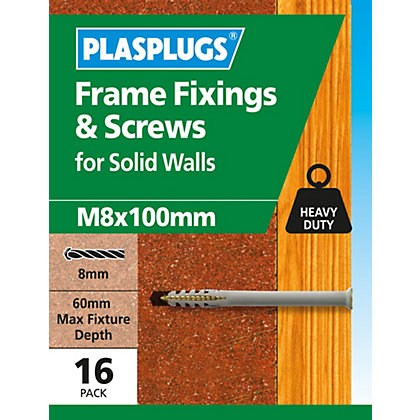 Image for Plasplugs Frame Fixings M8 x 100mm - Pack of 16 from StoreName