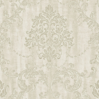 Image for Grandeco Lauretta Damask Ivory HWV from StoreName