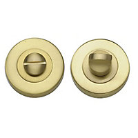 Door Handle Privacy Set - Brushed Brass - 1 Pair