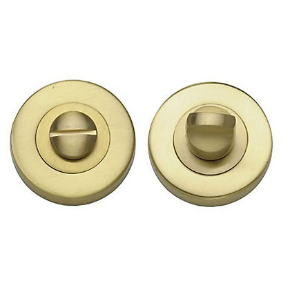 Image for Door Handle Privacy Set - Brushed Brass - 1 Pair from StoreName