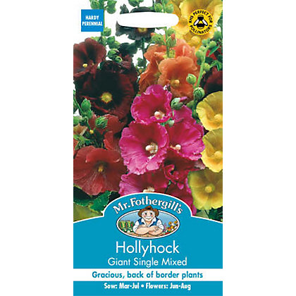 Image for Hollyhock Giant Single Mixed (Alcea Rosea) Seeds from StoreName