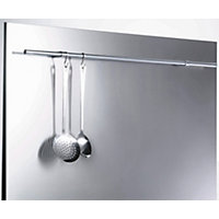 GDHA 90cm Glass Splashback - Stainless Steel