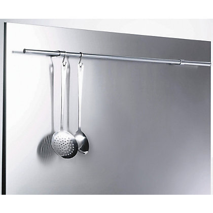Image for GDHA Splashback with Rail - 75 x 90 x 1cm - Stainless Steel from StoreName