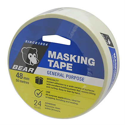 Image for Bear 48mm x 50m General Purpose Masking Tape from StoreName