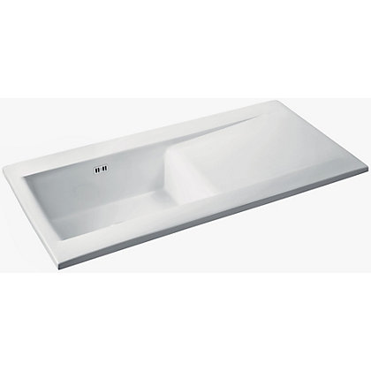 Image for Carron Phoenix Sapphira 100 White Ceramic Kitchen Sink - 1 Bowl from StoreName