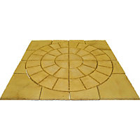Brett Walton Paving Circle with Corners 2.17m 4.71sq m 48 Pack - Warm Silk