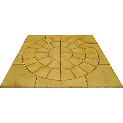 Image for Brett Walton Paving Circle with Corners 2.17m 4.71sq m 48 Pack - Warm Silk from StoreName