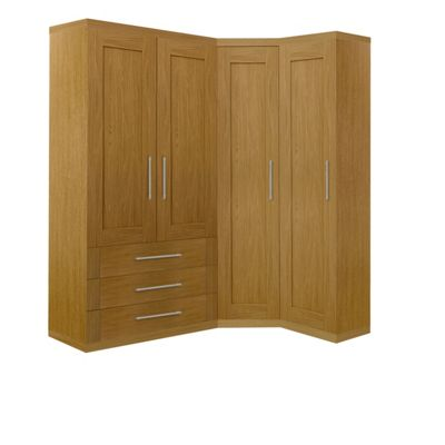 Schreiber Oak Double Combi Wardrobe At Homebase Be Inspired And Make Your House A Home Buy Now