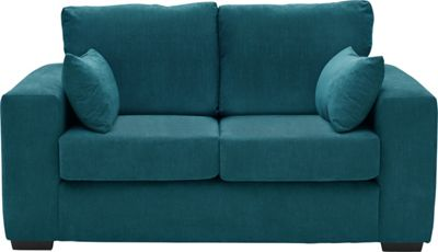 Tabitha Fabric Sofa Teal Best Price from Homebase