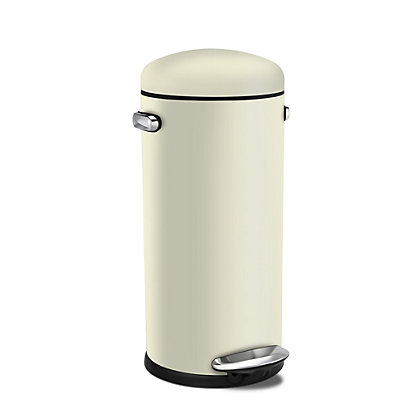 Image for Simplehuman Retro Round Pedal Bin - 30L from StoreName