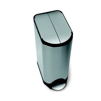 Image for Simplehuman Butterfly Pedal Bin - 30L - Silver from StoreName