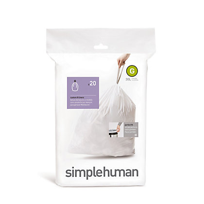 Image for Simplehuman Bin Liner Size Code G - 20 Pack from StoreName