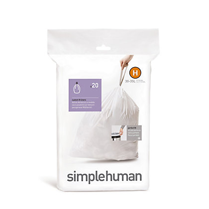 Image for Simplehuman Bin Liner Size Code H - 20 Pack from StoreName