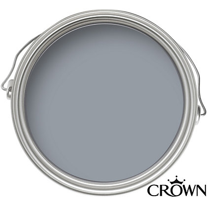 Image for Crown Feature Wall Breatheasy Blue Gravel - Matt Emulsion Paint - 40ml from StoreName