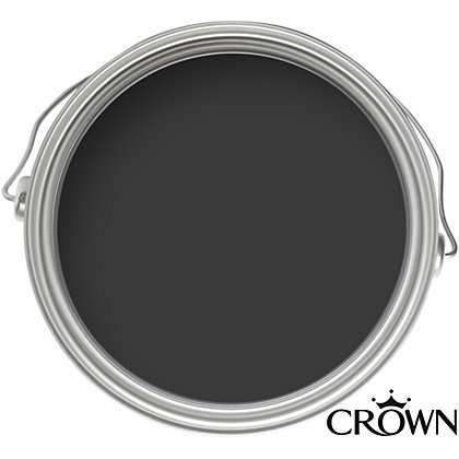 Image for Crown Standard Breatheasy Jet Black - Non Drip Satin Paint - 750ml from StoreName