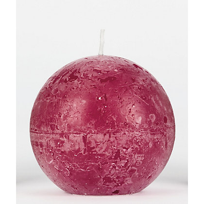 Image for Bolsius Rustic Ball Candle - Wine Red from StoreName