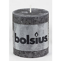 Bolsius Small Rustic Pillar Candle - Anthracite