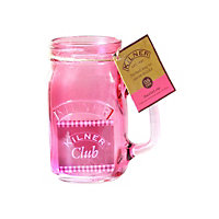 Kilner Handled Jar Pink - 400ml
