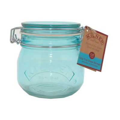 Image for Kilner Round Clip Top Blue Jar - 0.5L from StoreName