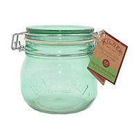 Kilner Round Clip Top Green Jar - 0.5L