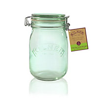 Kilner Round Clip Top Green Jar - 1L