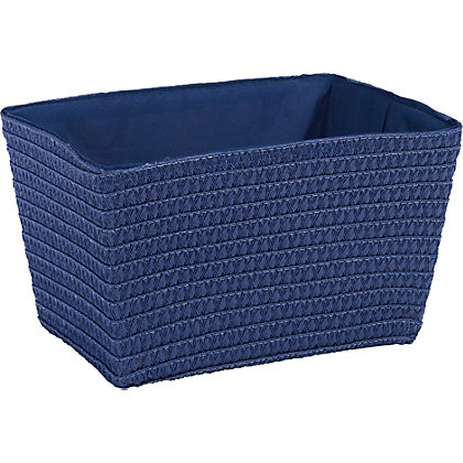 Image for Small Blue Straw Basket from StoreName