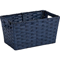 Small Blue Paper Basket