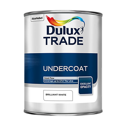 Image for Dulux Trade Undercoat Brilliant White Paint - 1L from StoreName
