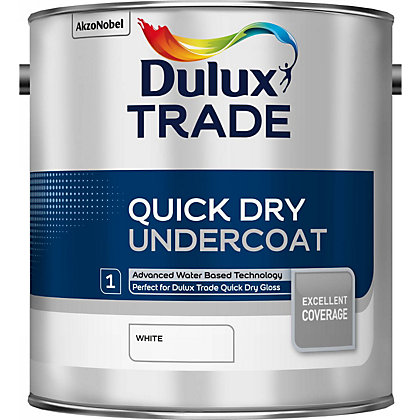 Image for Dulux Trade Undercoat White Quick Dry Paint - 2.5L from StoreName
