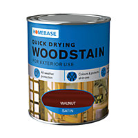 Homebase Quick Drying Woodstain Walnut - 750ml